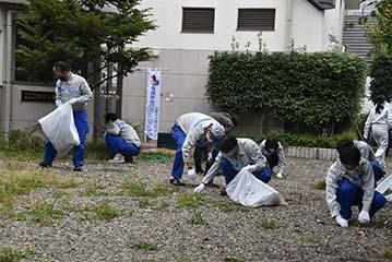 施設周辺の清掃活動